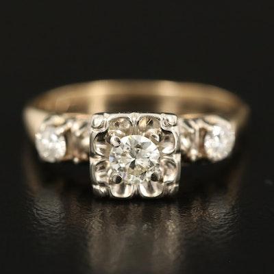 Vintage 14K 0.50 CTW Diamond Ring
