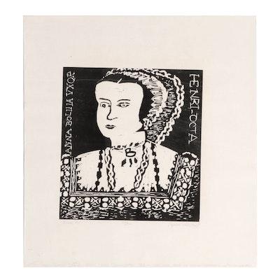 """Relief Print """"Anne B"""""""