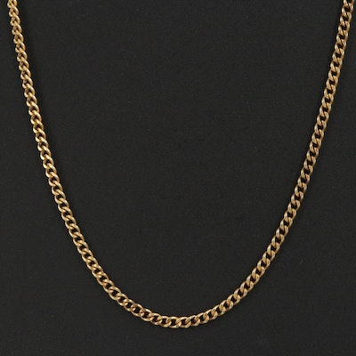 10K Curb Chain Necklace
