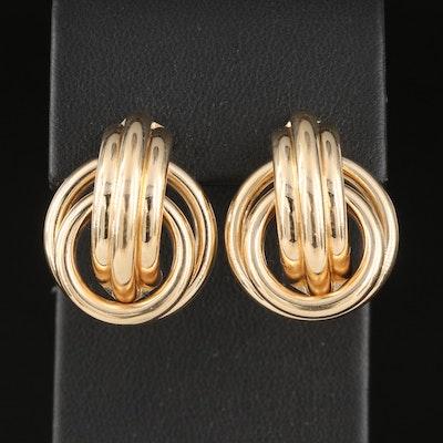 14K Interlocking Hoop Earrings