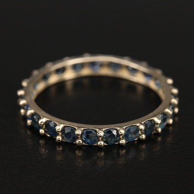 14K Stackable Sapphire Eternity Band
