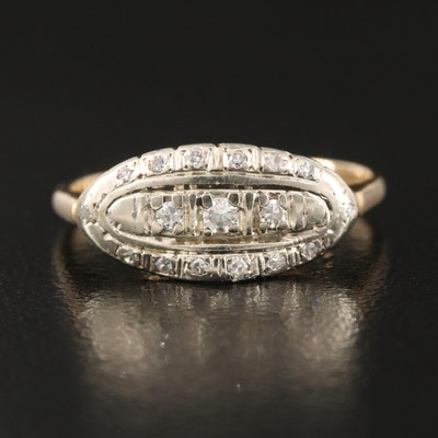 1930s Danish Richard Oxholm Rasch 14K Illusion Set Diamond Ring