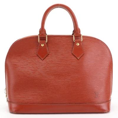 Louis Vuitton Alma Satchel PM in Kenya Fawn Epi Leather
