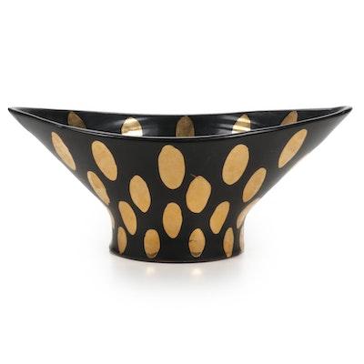 Italian Mid Century Modern Art Pottery Centerpiece Bowl