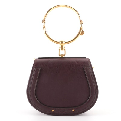 Chloé Nile Bracelet Small Bag in Brown Leather and Suede