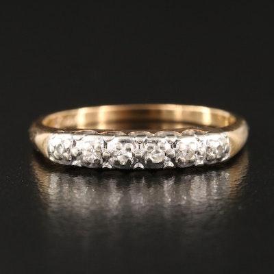 Vintage 14K 0.06 CTW Diamond Ring