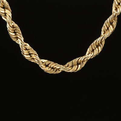 10K Braid Chain Necklace