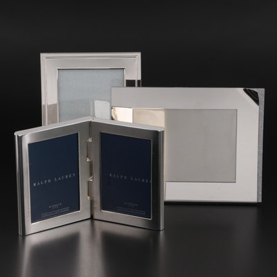 Swarovski Embellished Frame with Silver Plate Ralph Lauren and Waterford Frames