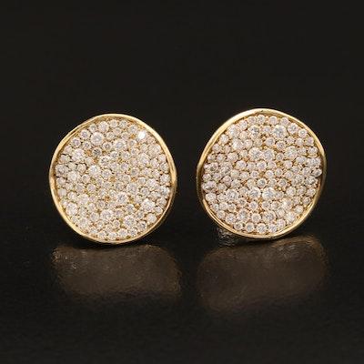 Ippolita 18K 1.35 CTW Pavé Diamond Earrings
