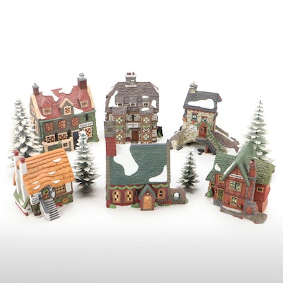 """Department 56 """"Dickens' Village Series"""" and Other Light-Up Table Decor"""