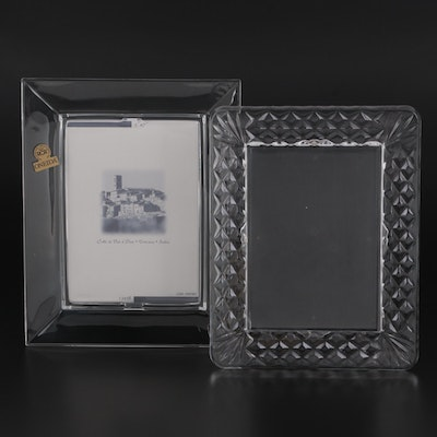 """Waterford Crystal """"Lismore"""" Picture Frame with Oneida """"Quadro"""" Crystal Frame"""