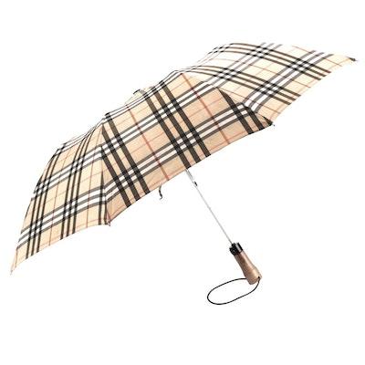 "Burberrys of London Folding Umbrella in ""Haymarket Check"""