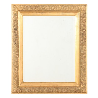 Gilt Finished Beveled Wall Mirror