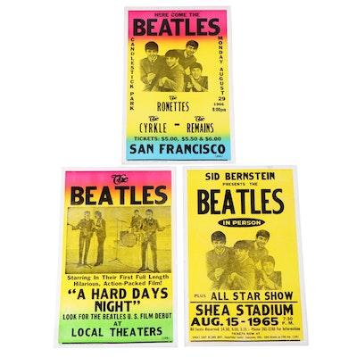 The Beatles Tribune Showprint, Inc. Letterpress Promotional Poster Reproductions