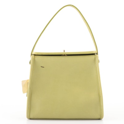 Coach Geometric Top Handle Bag in Smooth Kiwi Leather