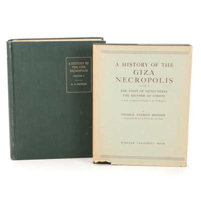 """""""A History of the Giza Necropolis"""" by George Andrew Reisner, Mid-20th Century"""