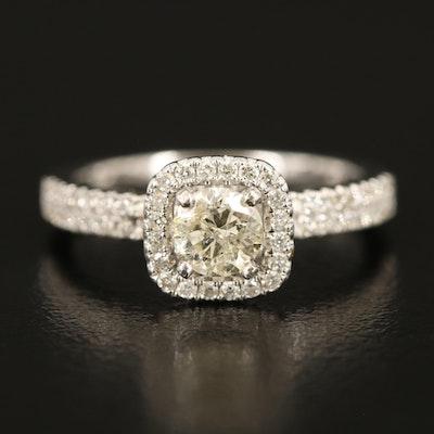 14K Diamond Ring with 0.50 CT Center Diamond