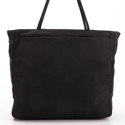 Prada Small Shopper Tote Bag in Black Nylon Tessuto