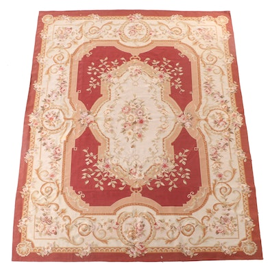 8'3 x 10' Handwoven French Aubusson Style Floral Area Rug