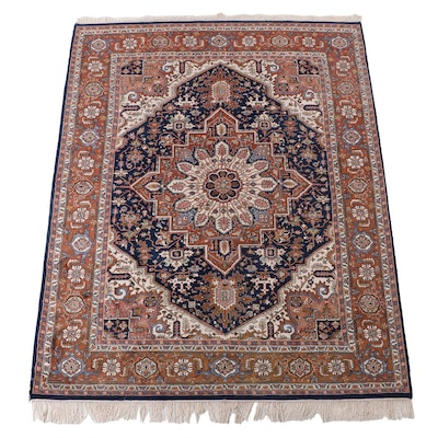 8'1 x 10'10 Hand-Knotted Indo-Persian Heriz Area Rug