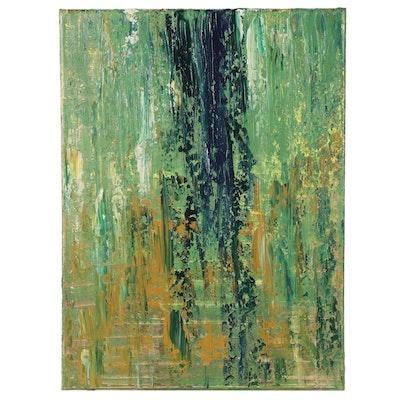 "Saul Gefen Acrylic Painting ""Waterfall,"" 2021"