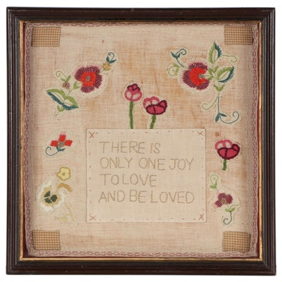 Handmade Embroidered and Beaded Patchwork Textile Collage