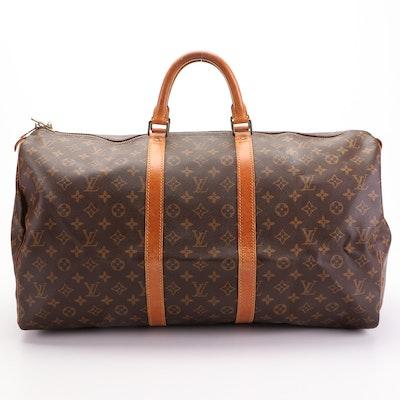 Louis Vuitton Keepall 55 Duffel Bag in Monogram Canvas