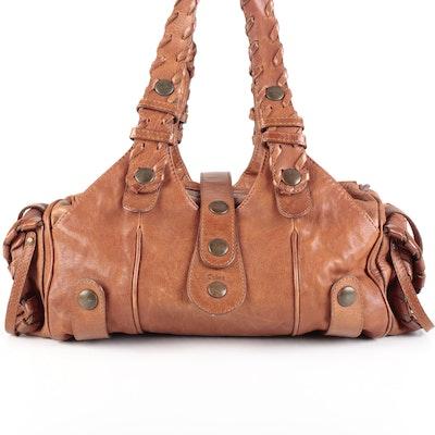 Chloé Medium Silverado Satchel in Light Brown Leather