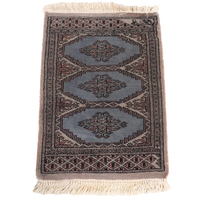 1'6 x 2'6 Hand-Knotted Pakistani Bokhara Accent Rug