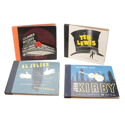 Al Jolson, Ted Lewis, Richard Rodgers, and John Kirby Album Sets