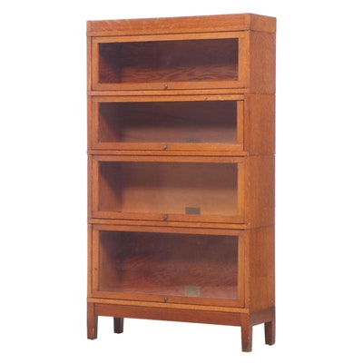 Globe-Wernicke Quartersawn Oak Four-Stack Barrister's Bookcase