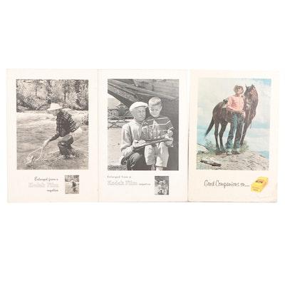 Kodak Advertising Easel Signs, Mid/Late 20th Century