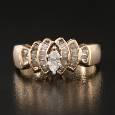 10K 0.47 CTW Diamond Ring