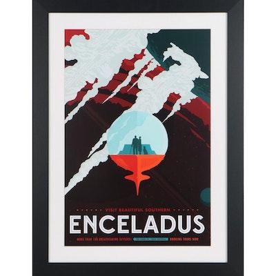 Promotional Style Giclée of Enceladus, 21st Century