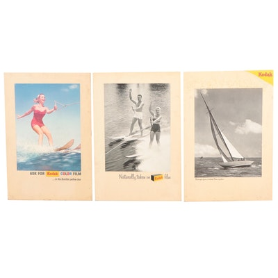 Kodak Advertising Easel Signs, Mid-20th Century