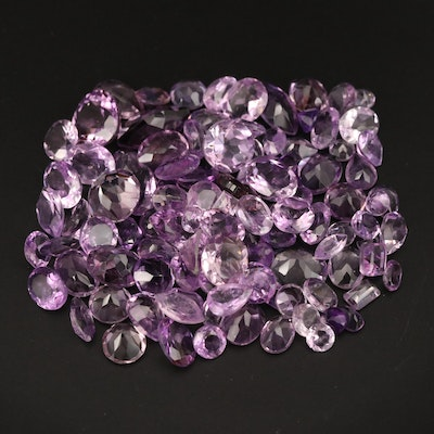 Loose 147.74 CTW Mixed Faceted Amethyst