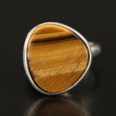 Sterling Tiger's Eye Quartz Ring