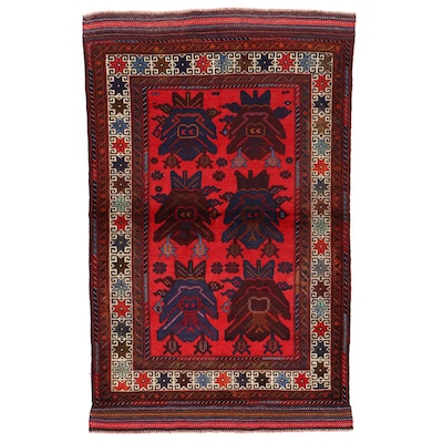 4' x 6'8 Hand-Knotted Area Rug
