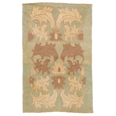 4'4 x 6'9 Hand-Knotted Turkish Donegal Area Rug