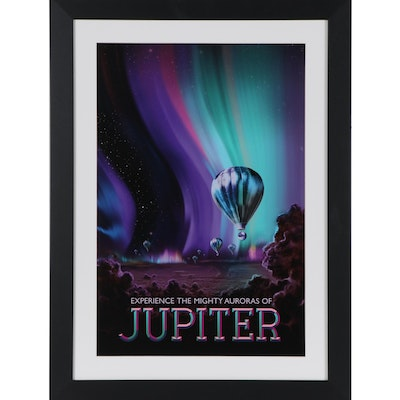 """Space Travel Giclée """"Experience the Mighty Auroras of Jupiter,"""" 21st Century"""