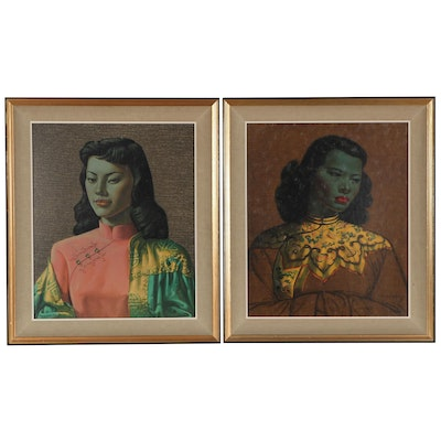Offset Lithographs After Vladimir Griegorovich Tretchikoff, Mid-20th Century