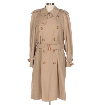 Burberrys Unisex Classic Double-Breasted Trench Coat with Wool Liner