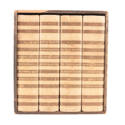 """""""Remembrance of Things Past"""" Four-Volume Set by Marcel Proust, 1934"""