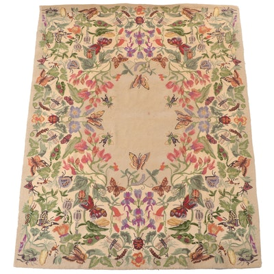 """7'3 x 9'3 Hand-Hooked Savoy Chinese """"Petit Hook"""" Area Rug"""
