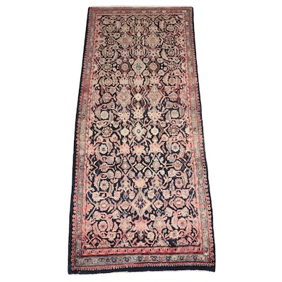 4' x 9'11 Hand-Knotted Persian Malayer Long Rug