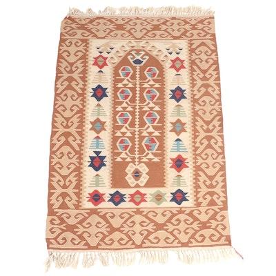 3'7 x 6'2 Handwoven Turkish Kilim Area Rug
