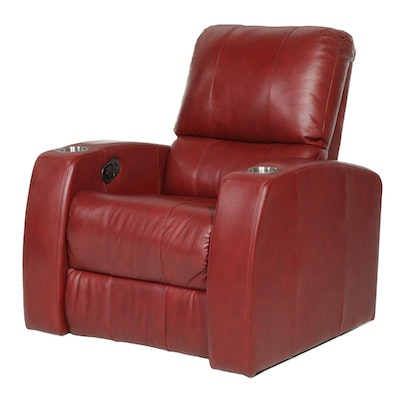 """Contemporary Palliser """"Pacifico"""" Leather Manual Reclining Theater Seat"""