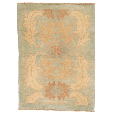 3'9 x 5'3 Hand-Knotted Turkish Donegal Area Rug
