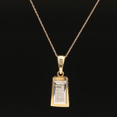14K 0.45 Diamond Pendant Necklace