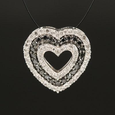 14K 0.75 CTW Diamond Heart Pendant